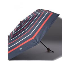 マリンボーダー晴雨兼用折りたたみ傘 日傘