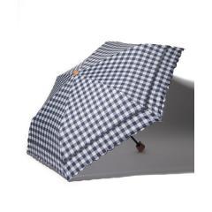 スカラップギンガムチェック晴雨兼用折りたたみ傘 日傘