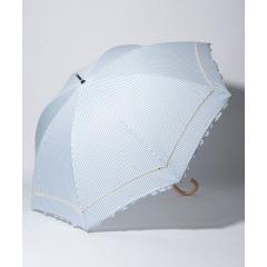 ストライプフリル晴雨兼用長傘 日傘