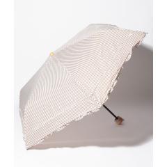 ストライプフリル晴雨兼用折りたたみ傘 日傘