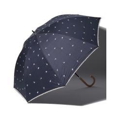 プチフラワー刺繍晴雨兼用長傘 日傘