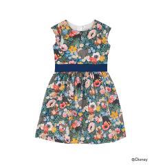 【135cm-145cm】ディズニー『ジャングルブック』 キッズキャップスリーブドレス  ジャングルフラワー