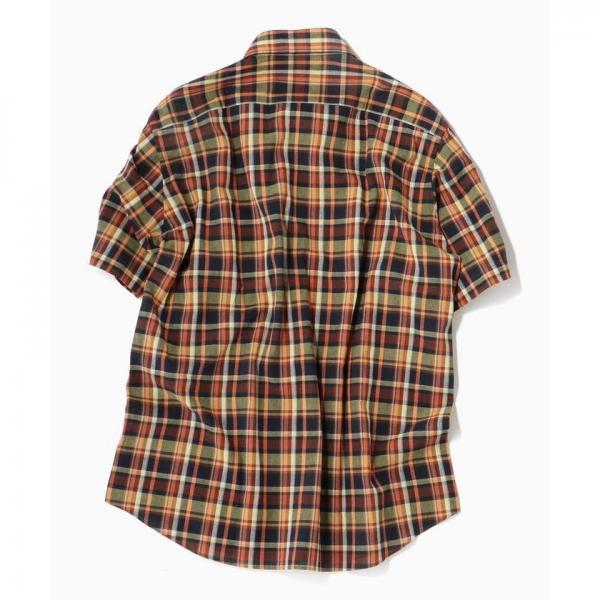 SC: コットン/リネン マドラスチェック ショートスリーブ シャツ【お取り寄せ商品】