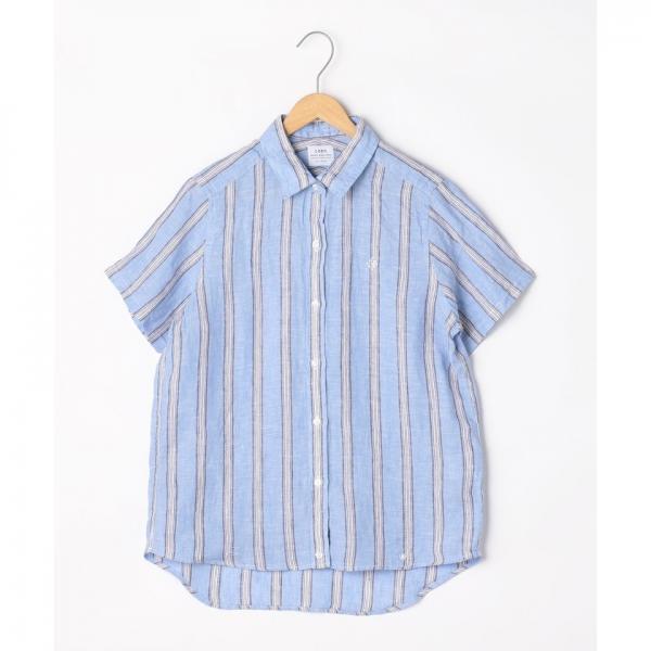 フレンチリネン半袖シャツ【お取り寄せ商品】