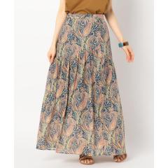 [新色追加]LIBERTY PRINT切り替えギャザースカート【お取り寄せ商品】