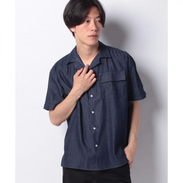 9a7bc5dfec9a4b LOHACO - 【BLUE STANDARD】デニムオープンカラーシャツ (シャツ ...