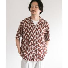 パターンオープンカラーショートスリーブシャツ2【お取り寄せ商品】
