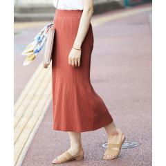 【セットアップ対応】オーガニックコットンリブニットスカート