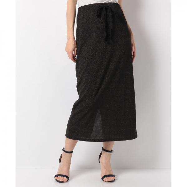 ラメリブカットスカート