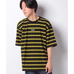 刺繍ボーダーBIGTシャツ