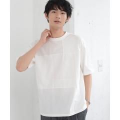 パッチワークオーバーダイクルーネックTシャツ【お取り寄せ商品】