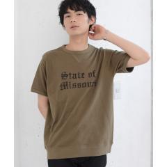 ガゼットスラブカレッジプリントTシャツ【お取り寄せ商品】