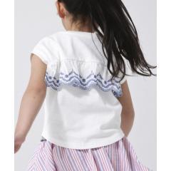 【coen キッズ/ジュニア】バックスカラップ刺繍ドルマンTシャツ【お取り寄せ商品】