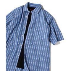 SU: レギュラーカラー ストライプ ボックス ショートスリーブ シャツ【お取り寄せ商品】