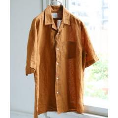 リネンオープンカラーシャツ【お取り寄せ商品】