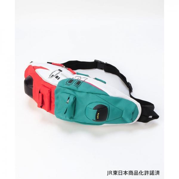【JR東日本商品化許諾済】はやぶさ×こまち連結 新幹線ボディバッグ(MAGASEEK/d fashionオリジナル)