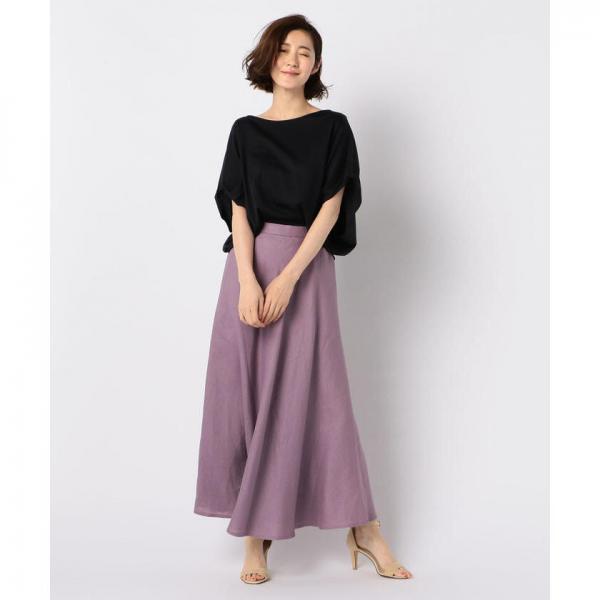 リネンマキシスカート【お取り寄せ商品】