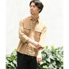 ガーゼ七分袖シャツ【お取り寄せ商品】