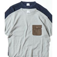 【着る消臭元】ワッフル布帛ポケットTシャツ【お取り寄せ商品】