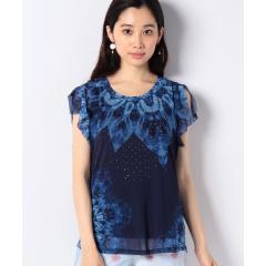 スタッズ付き半袖Tシャツ