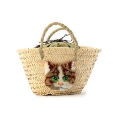 CAT IN DA HOUSE!:キャットエンブロイダリーバッグ S【お取り寄せ商品】