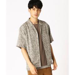 テンセルツイルプリント オープンカラーシャツ