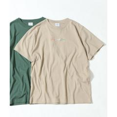 フロントカラー刺繍Tシャツ【お取り寄せ商品】
