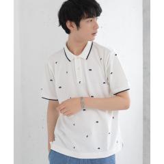 総柄ベア刺繍ポロシャツ【お取り寄せ商品】