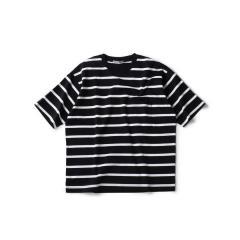 SU: リラックスフィット ポンチ ボーダー Tシャツ【お取り寄せ商品】