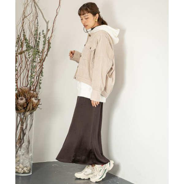 レトロロングナロースカート【お取り寄せ商品】