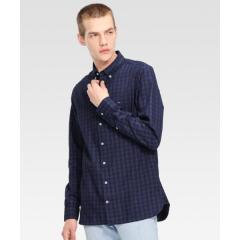 トーナルチェックシャツ