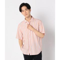ストライプ ポプリン ショートスリーブシャツ【お取り寄せ商品】