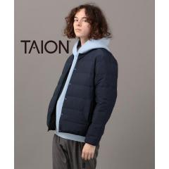 TAION×SHIPS JET BLUE: 【Begin1月号 P21掲載】別注 ステッチレス リバーシブル クルーネック ダウンジャケット【お取り寄せ商品】