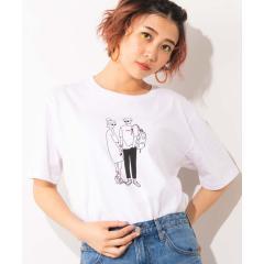 WEGO/モノトーンバラエティプリントTシャツ