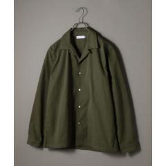 SHIPS JET BLUE: オープンカラー シャツジャケット【お取り寄せ商品】
