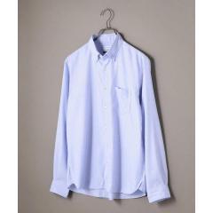 SHIPS JET BLUE: ギンガムチェック/ソリッド ボタンダウンシャツ【お取り寄せ商品】