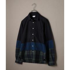 SHIPS JET BLUE: 3パネル レギュラーカラー シャツ【お取り寄せ商品】
