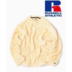 RUSSELL ATHLETIC×SHIPS: 別注 ダブルフェイス ボア フリース ポケット プルオーバー【お取り寄せ商品】