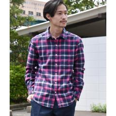 SC: フェザー チェック レギュラーカラー ネルシャツ 19FW【お取り寄せ商品】