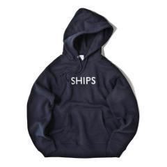 【至極の逸品】SU:【一部WEB限定カラー】SHIPSロゴ ビッグシルエット エンブロイダリー パーカー(トレーナー)【お取り寄せ商品】