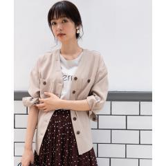 【WEB限定】抜き襟Vネックドロストシャツ