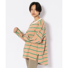 【WEB&DEPOT限定】ノーカラー ラグビーボーダーTシャツ/NO-COLLAR RUGBY BORDER TEE【お取り寄せ商品】