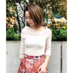 【美人百花11月号掲載】リブアシメロールカラーニット