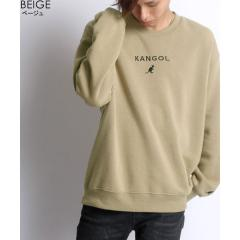 【KANGOL】カンゴール ビッグシルエット ミニロゴ刺繍 裏起毛 トレーナー