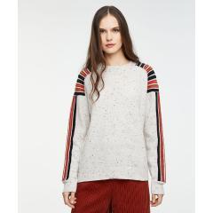 ウール混ショルダーラインニット・セーター
