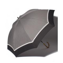 シャンブレーフラワーレース晴雨兼用長傘 日傘