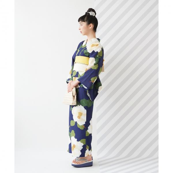 浴衣「椿オーバジーン」/ 夏・祭り・花火