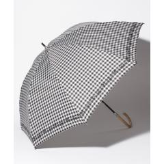 ギンガムチェックフラワー晴雨兼用長傘 日傘
