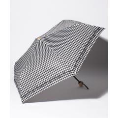 ギンガムチェックフラワー折りたたみ傘  日傘