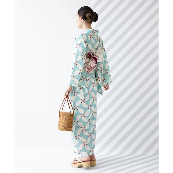 浴衣「風車」/ 夏・着物・単衣・花火・祭・納涼船